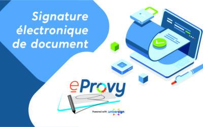 Simplifiez  vos signatures  électroniques avec eProvy